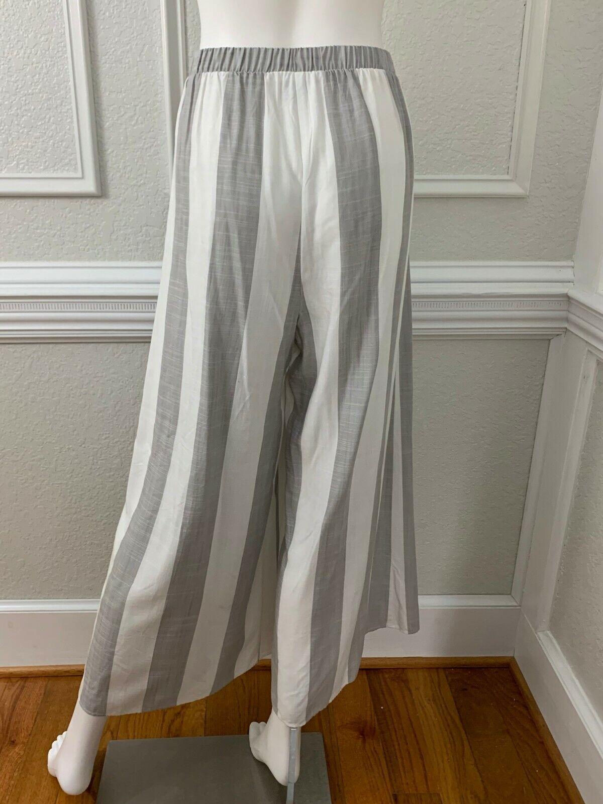 Show Me Your Mumu Explorer Gaucho Pants Grey Whit… - image 4