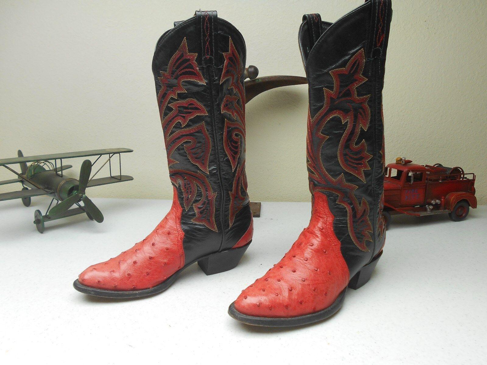 EUC Usa rosado rosado rosado Coral Tony lama ostrich Cowgirl Western Bailando botas Talla 5.5 B  tienda de descuento