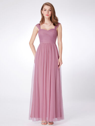 Ever-Pretty Backless Strappy Party Dresses Chiffon Bridesmaid Prom Dress 07304