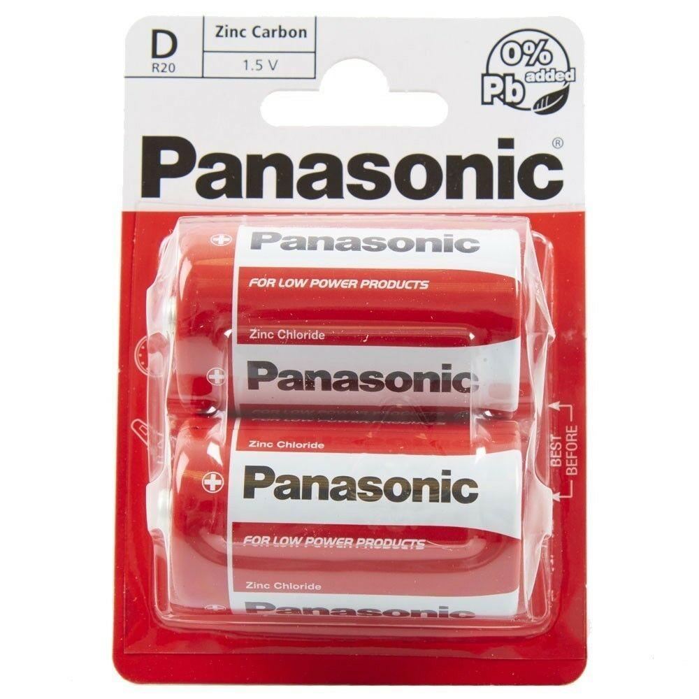 16 x Panasonic D R20 Battery Heavy Duty Universal Cell Batteries 1.5 Bulk Joblot