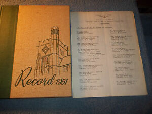 1951-VINELAND-HIGH-SCHOOL-YEARBOOK-VINELAND-NJ-WITH-1981-30TH-REUNION-ROSTER
