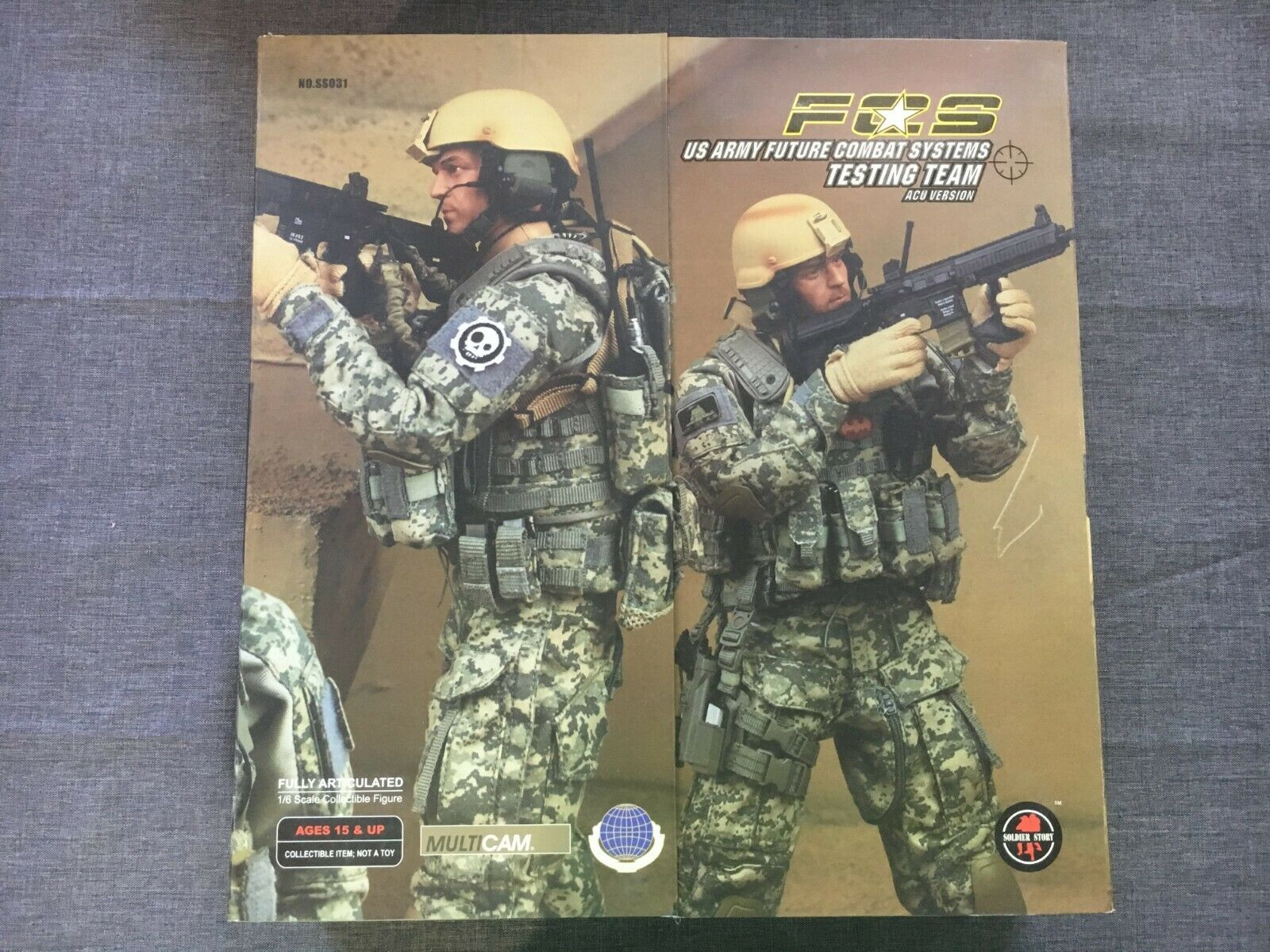 Soldier Story 1 6 Scale 12  ACU FCS Multicam US Army Future Combat System SS031