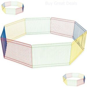 Small Pet Playpen Indoor Outdoor Dog Cat Exercise Portable Cage