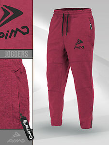 72ea4e2c63f0a3 Image is loading PIMD-Essential-Joggers-Burgundy-Fitted-Sweatpants-Fitness- Workout-