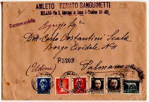 1929-REGNO-IMPERIALE-5-COLORI-L-2-55-L-1-75-L-2-CENT-35-CENT50-SU-RACCOMANDATA