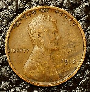 F // FN 1912-P Lincoln Wheat Cent in Fine Condition ~ $20 ORDERS SHIP FREE!
