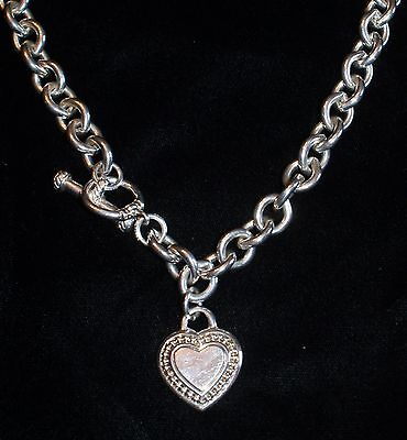 """Judith Ripka Sterling 20"""" Link Heart Chain Necklace 124 grams Sterling Silver"""