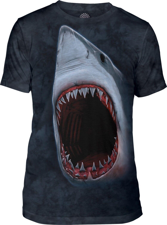 The Mountain Adult Shark Bite Tri-Blend Aquatic T Shirt