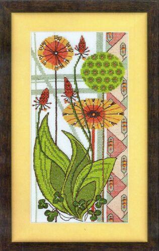 BT-119 Cross Stitch Kit Vulnerary plants art