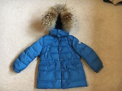 615ab86d9 💙GENUINE MONCLER SENECA BOYS COAT JACKET ROYAL BLUE HUGE HOOD AGE 3-4  YEARS💙 | eBay
