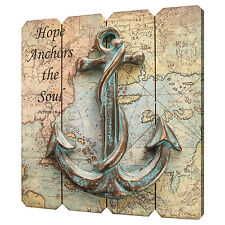 WALL ART - HOPE ANCHORS THE SOUL DECORATIVE SIGN - ANCHOR WALL PLAQUE