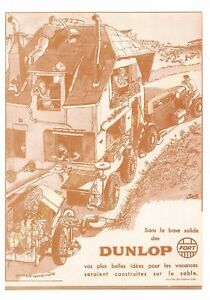 Sepia Postcard Ads Advertising Automobile Dunlop Edit 3615 PUB48