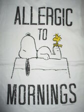 """Peanuts SNOOPY """"Allergic to Mornings"""" WOODSTOCK (Youth LG) Tank Top Shirt"""