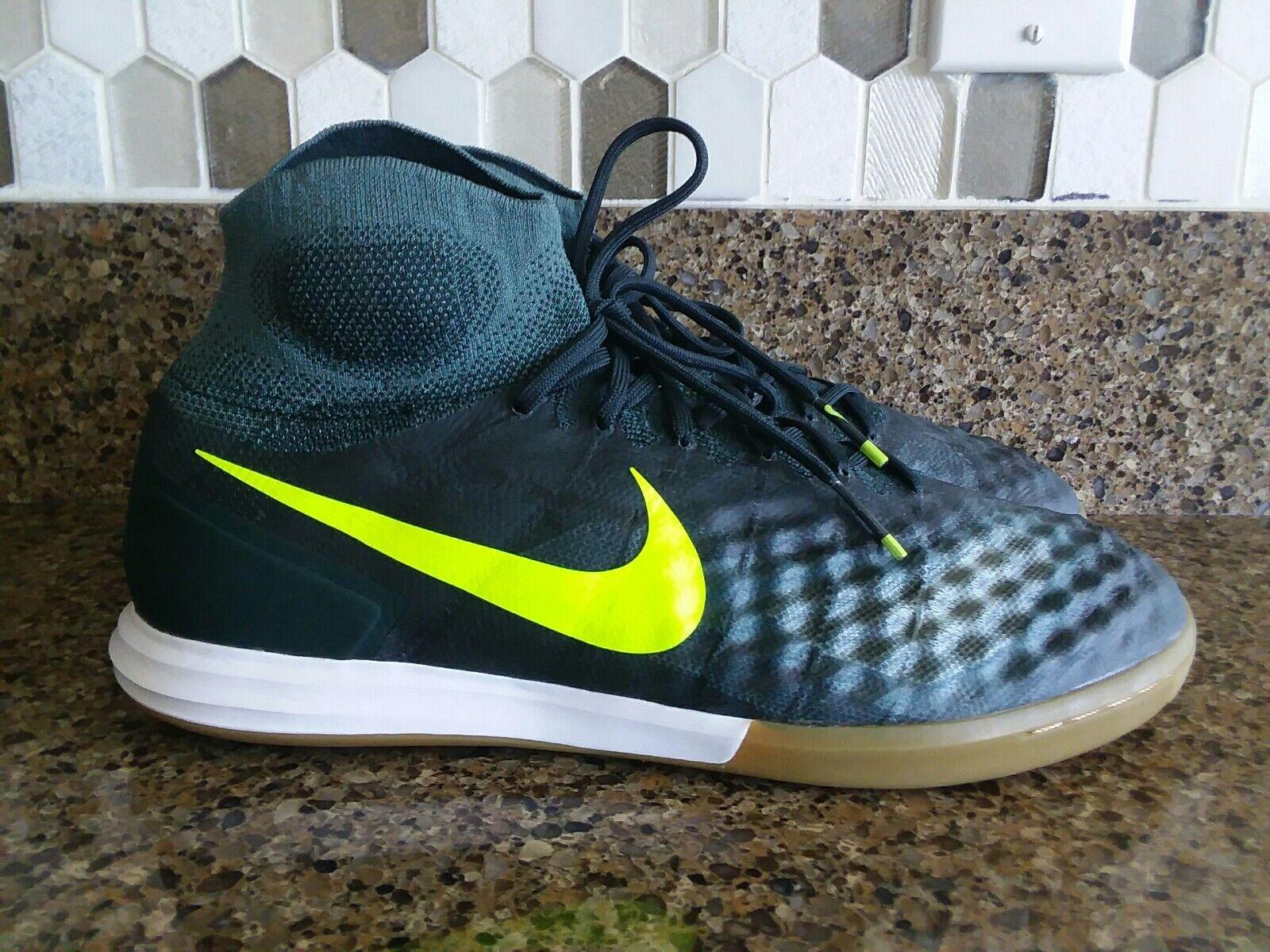 Nike MagistaX Proximo II IC Soccer Shoes Seaweed/Volt Sz 10, 11