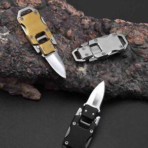 1-Key-Chain-Keyring-Stainless-Steel-Folding-Pocket-Mini-Knife-Outdoor-Survival