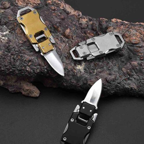 1× Key Chain Keyring Stainless Steel Folding Pocket Mini Kn