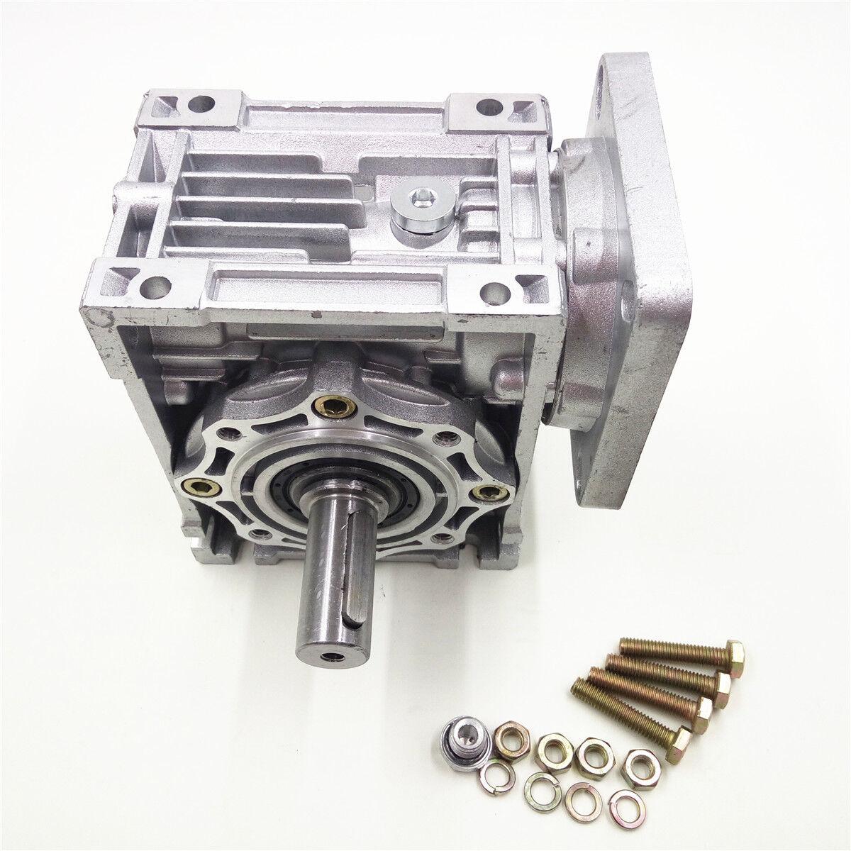 Nema34 Worm Gearbox Geared Speed Reducer 14mm Input Reduction for Stepper Motor 2