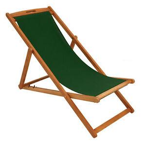 Klappliege Holz.Details Zu Liegestuhl Gartenliege Klappliege Garten Liege Playa Holz Bezug Dunkelgrün