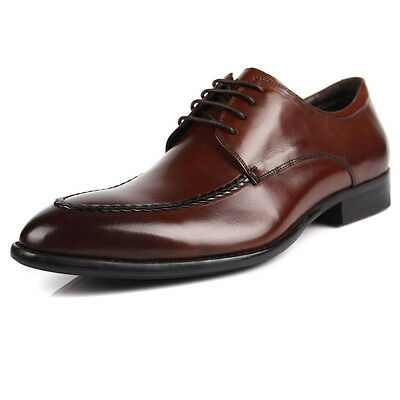New Business Men/'s Real Leather Dress Formal shoes Lace up Black Brown w0156
