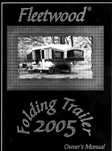 Details about FLEETWOOD Popup Trailer Owners Manual -2005 Highlander  Sequoia Niagara Newport