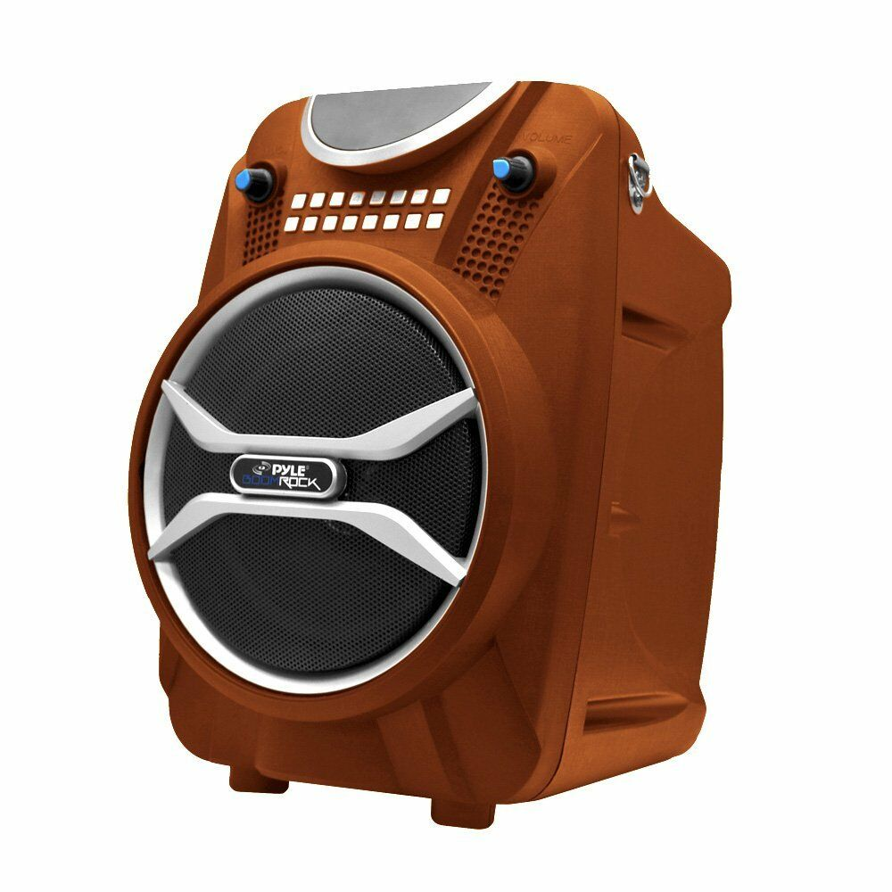 Pyle Boom Rock Pwmab210or Speaker System - 200 W Rms - Portable - Battery