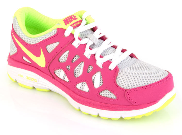NEW NIKE DUAL FUSION RUN 2 Running VOLT PINK Womens 6.5 (5Y) NIB