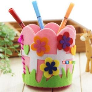 Cute-Creative-Handmade-Pen-Container-DIY-Pencil-Holder-Kids-Craft-Toy-Kits-NEW-S