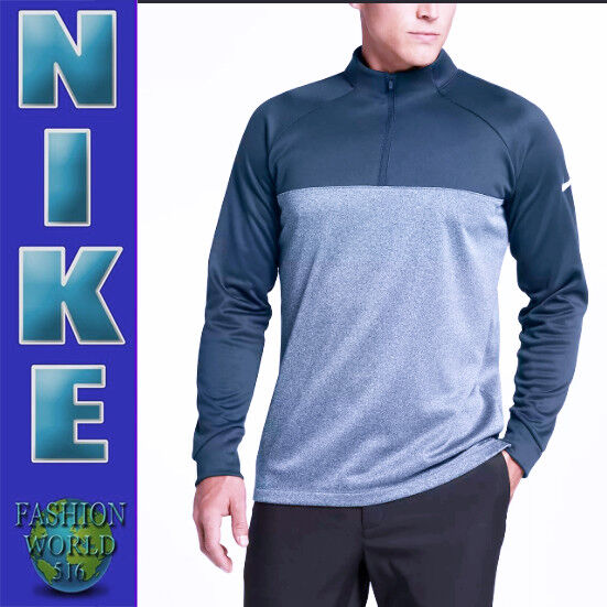 c83f6b6af 2018 Nike Men's Size Large Therma Core Half Zip Golf Top 854498 454 Armory  Navy for sale online | eBay