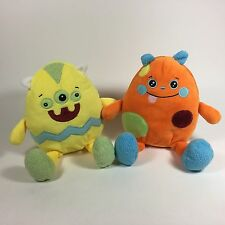 Inter American Products Pair Plush Easter Egg Monster Characters