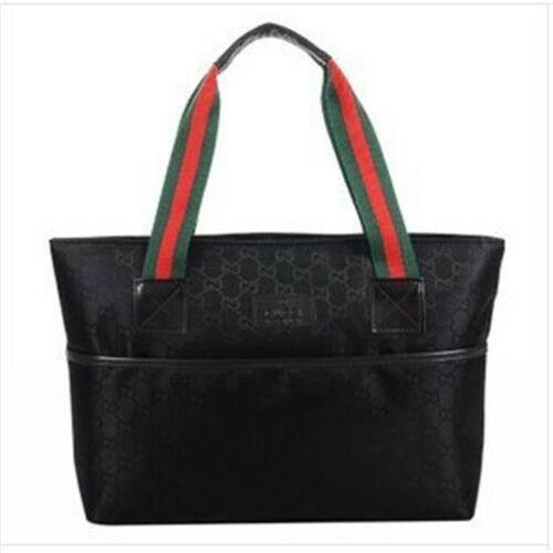 Womens Ladies Designer Checkered Tote Bag Large Canvas Shoulder Handbag Purse