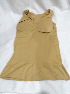 Women/'s Beige Color Slimming Body Support Padded Bra Undershirt Cami Size XXL
