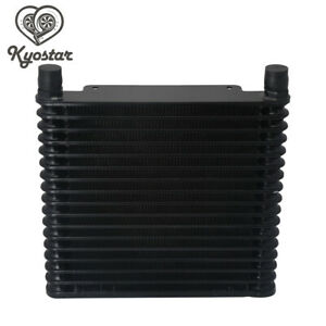 Universal-Aluminum-17Row-AN10-Engine-Transmission-Oil-Cooler-10-AN-Cooling-Black