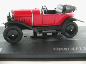 Ixo-119-Opel-4-12-CV-Laubfrosch-1924-1926-en-rojo-negro-1-43-nuevo-PC-vitrina