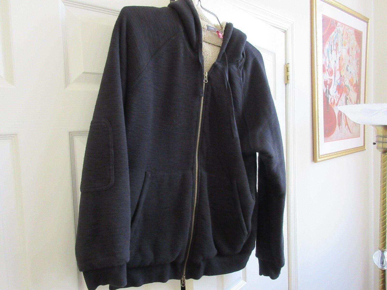 Vince , Men's Hooded Jacket , # M06038517 , XXL , Black