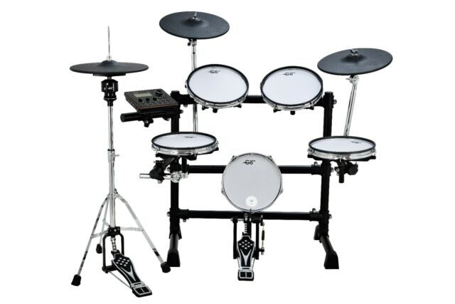 goedrum re6 electronic drum set electric drum kit mesh edrums for sale online ebay. Black Bedroom Furniture Sets. Home Design Ideas