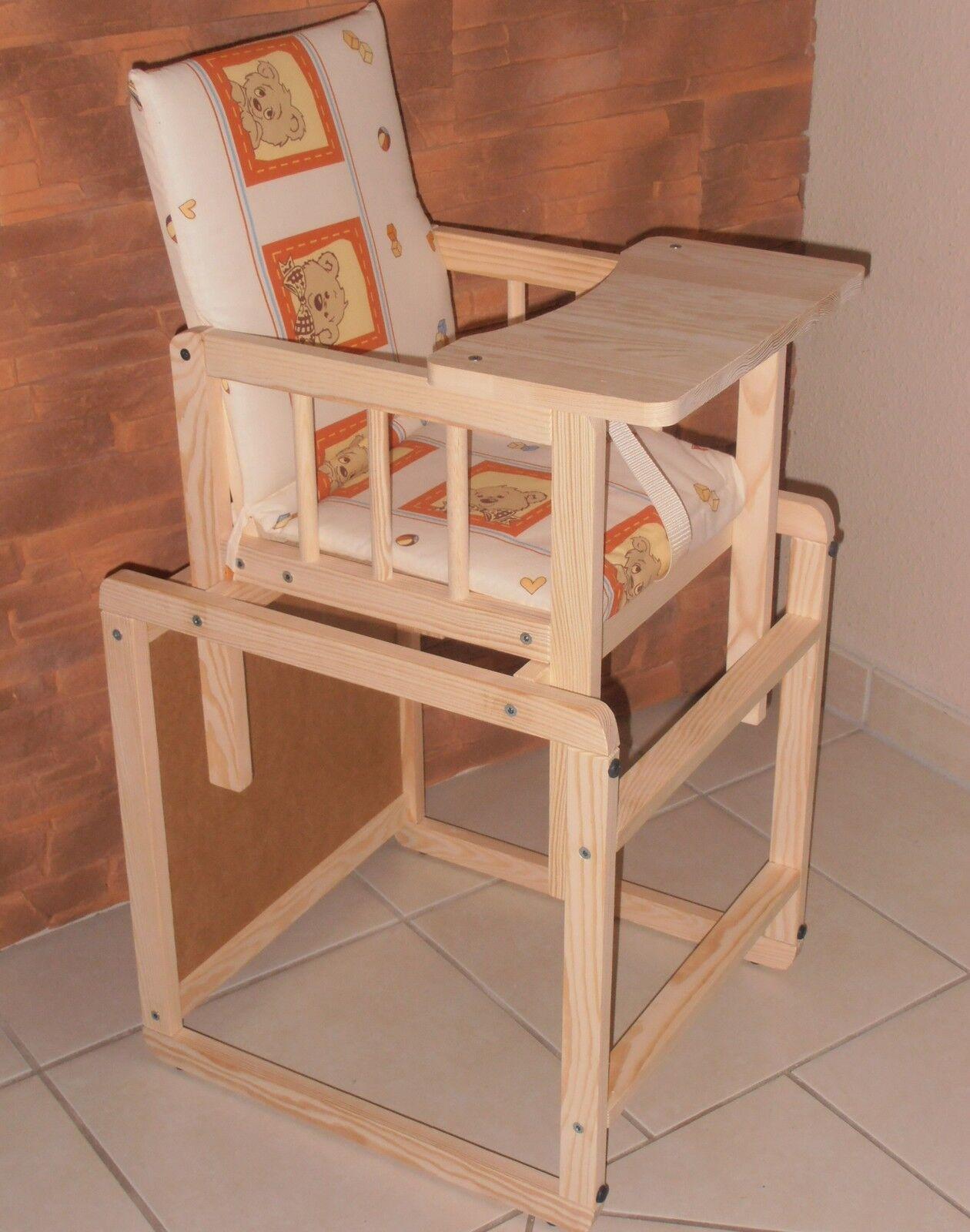 Kombihochstuhl Hochstuhl Kinderhochstuhl Tisch Stuhl komplett Massivholz 5farben