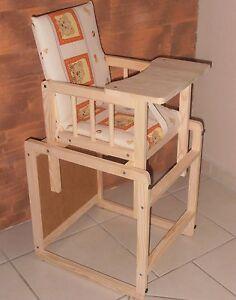hochstuhl kinderhochstuhl kombihochstuhl 5 farben neu angebot massivholz ebay. Black Bedroom Furniture Sets. Home Design Ideas