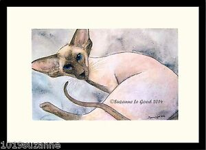 LARGE-LTD-EDITION-SIAMESE-CAT-PRINT-FROM-ORIGINAL-PAINTING-BY-SUZANNE-LE-GOOD