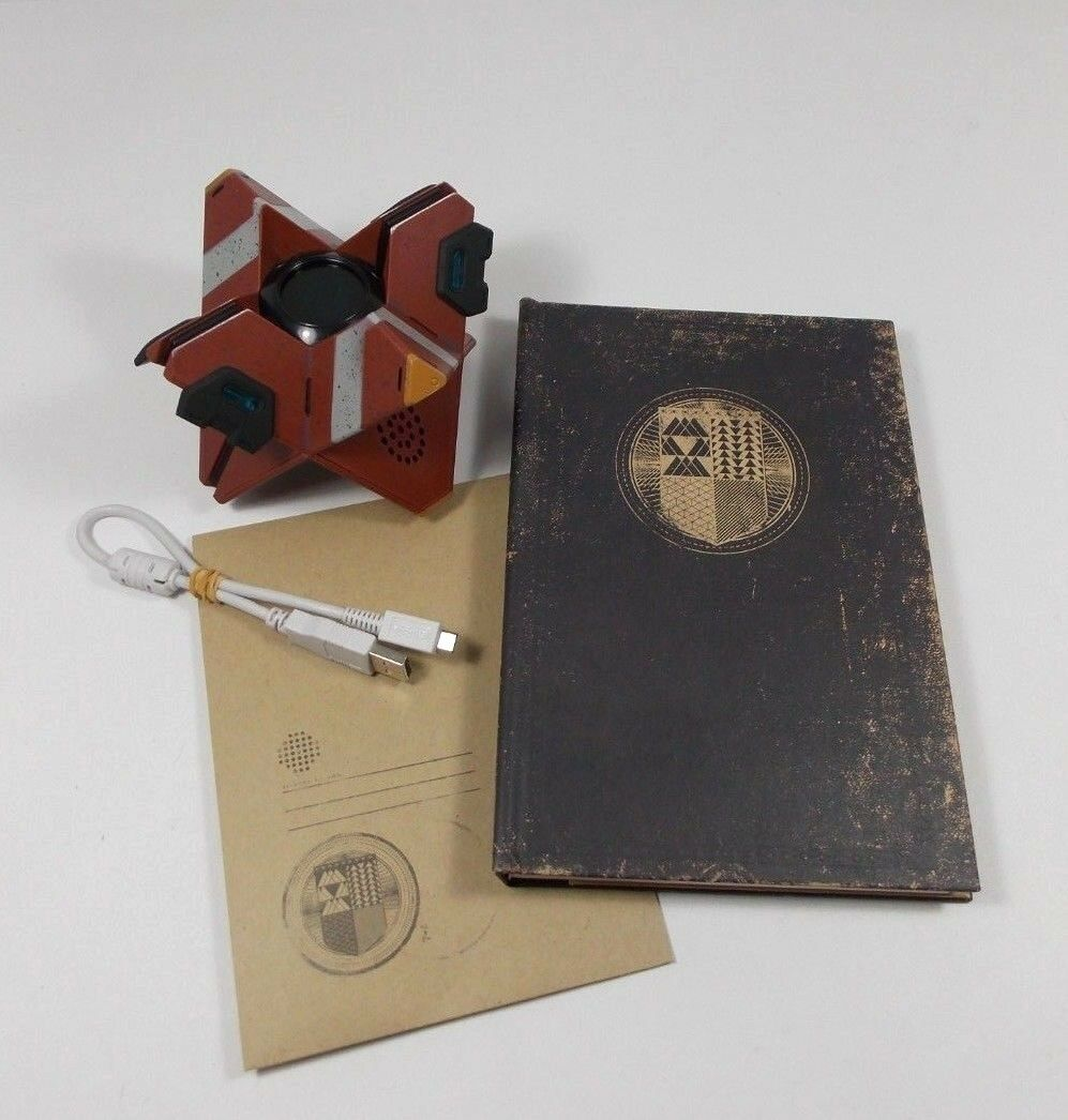 DESTINY COLLECTORS ED. TALKING GHOST REPLICA W RELICS PACT AND FIELD GUIDE