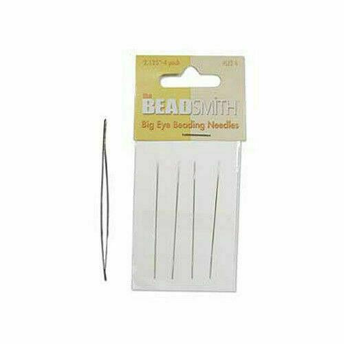 1 x 4 Beadsmith Big Eye Beading Needles Jewellery Craft Easy Threading SB52