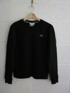 LACOSTE CREW NECK JUMPER, DEVANLAY, SIZE - 3/ SMALL, BLACK