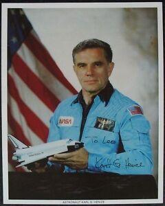S1300-Shuttle-Astronauta-Karl-Henize-Nasa-Photo-JSCL-255-Autografo-Autograph