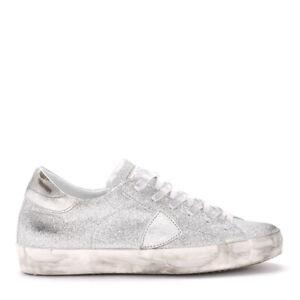Sneaker-Philippe-Model-Paris-in-glitter-argento