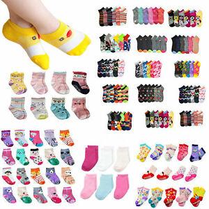 Lot 12 Pair Toddler BOY Children Kid Socks Mixed Design Spandex Ankle Crew 0-12