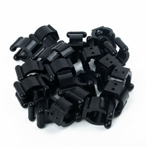 20 Pcs Plastic Fishing Rod Clips Pole Storage Tip Clamps Holders Wall Mount Rack