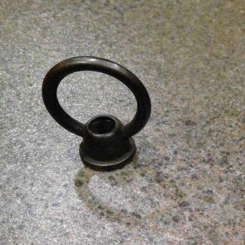 "Antique Brass Finish Female Loop for Hanging Lamp repair tap 1//8/""ip 1 5//8/"" tall"