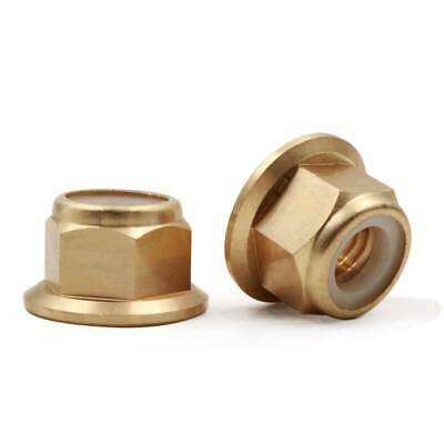 5pcs M2 M3 M4 M5 M6 M8 brass hexagon flanged nylon lock nut copper nuts