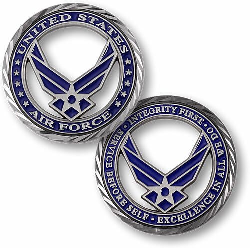 USAF Brass Challenge Coin U.S Core Values Air Force