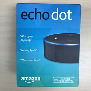AMAZON-ECHO-DOT-2nd-Generation-WITH-ALEXA-SMART-ASSISTANT-BLACK-NEW-SEALED