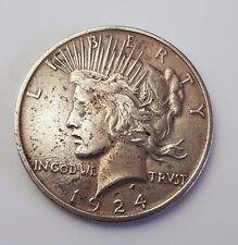 U.S.A - DATATA 1924-ARGENTO-la pace - $1 UN DOLLARO medaglia-AMERICANA moneta argentea